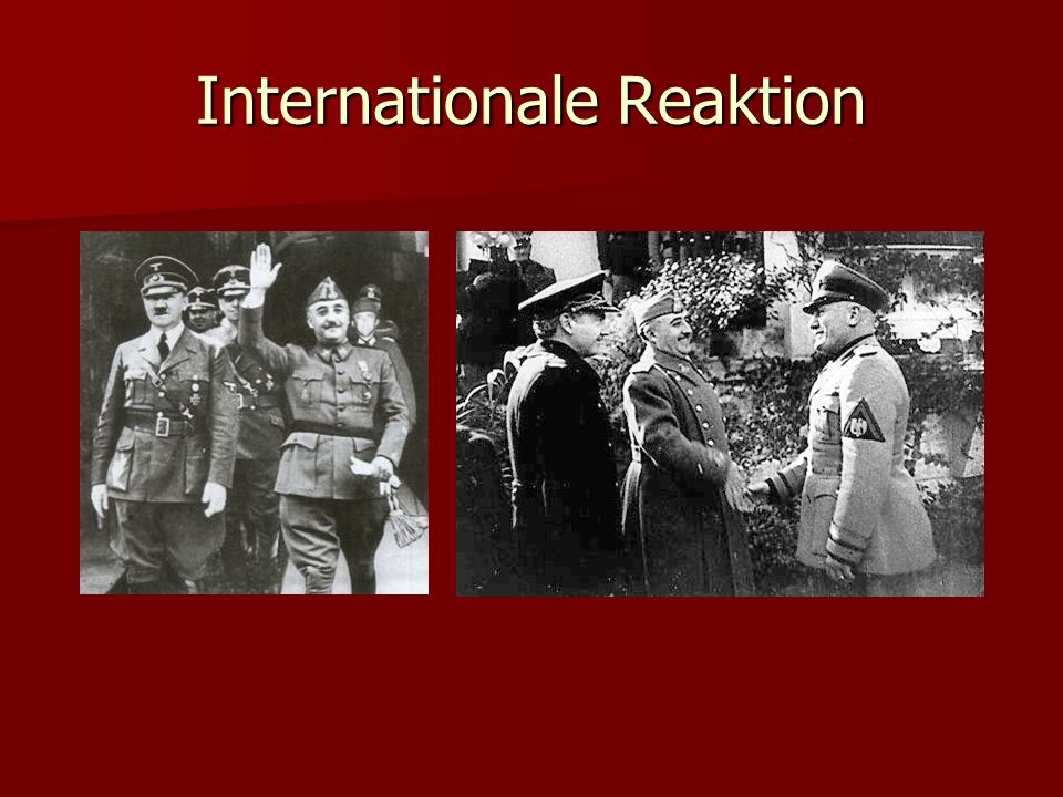 Internationale Reaktion