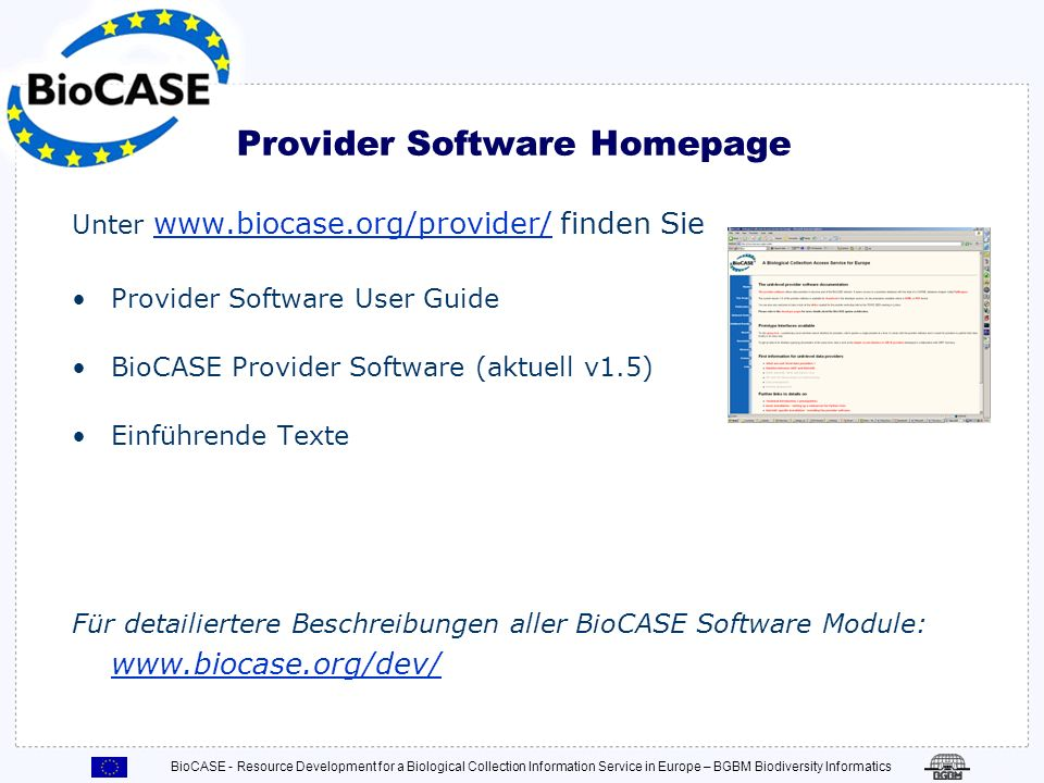 Provider Software Homepage