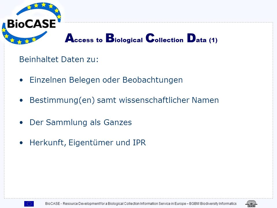 Access to Biological Collection Data (1)