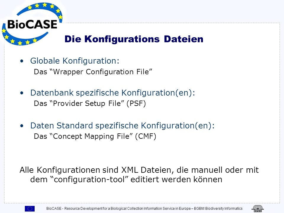 Die Konfigurations Dateien