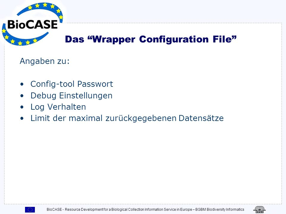 Das Wrapper Configuration File