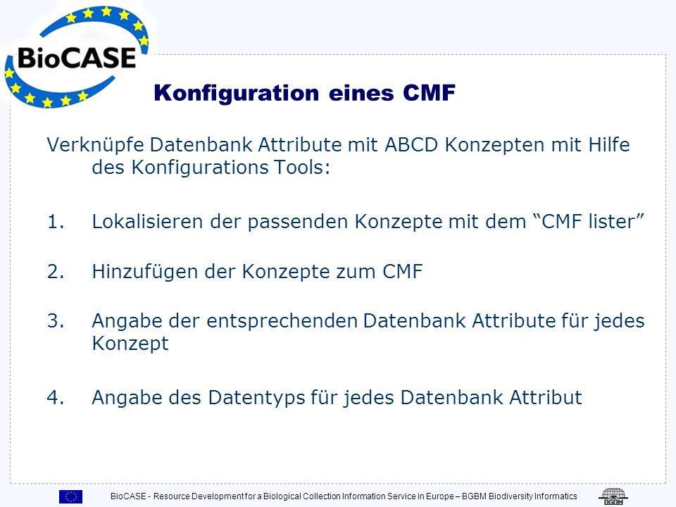 Konfiguration eines CMF