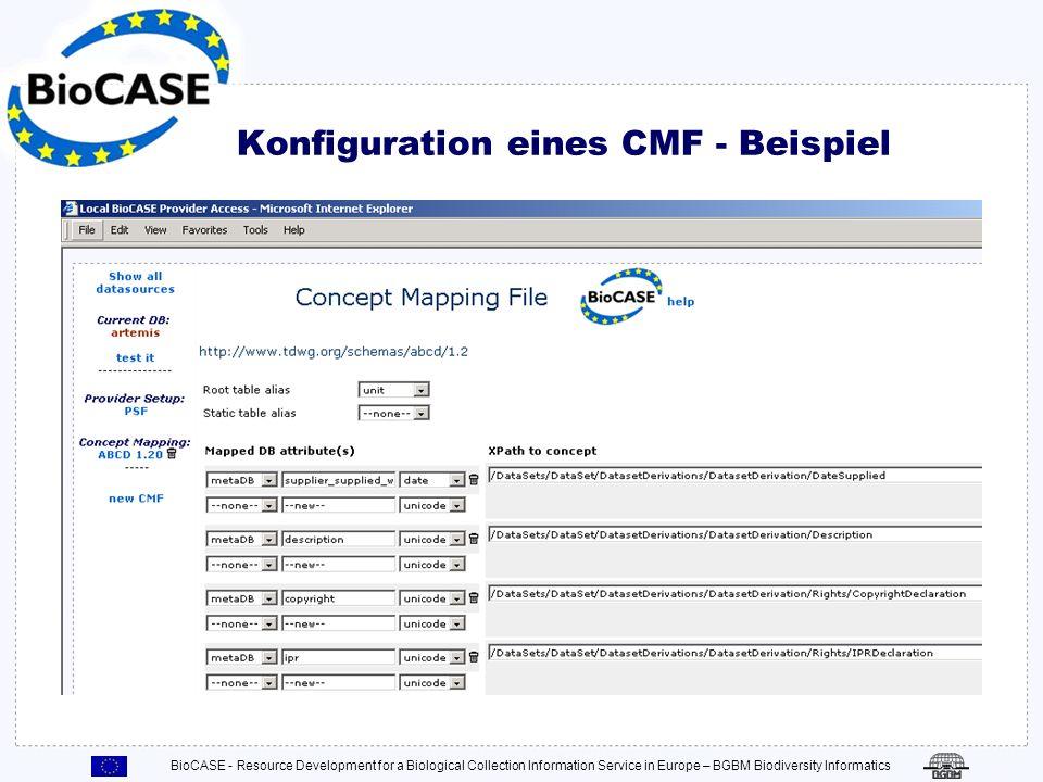 Konfiguration eines CMF - Beispiel