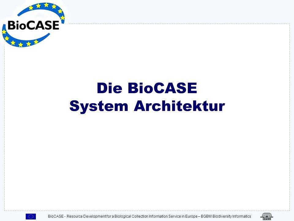 Die BioCASE System Architektur