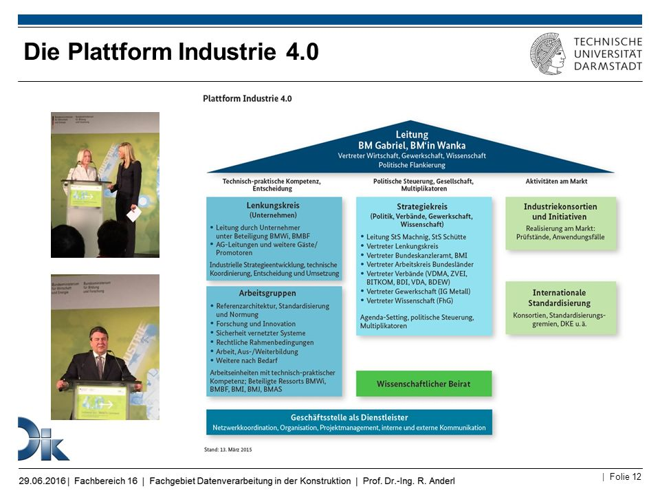 Die Plattform Industrie 4.0
