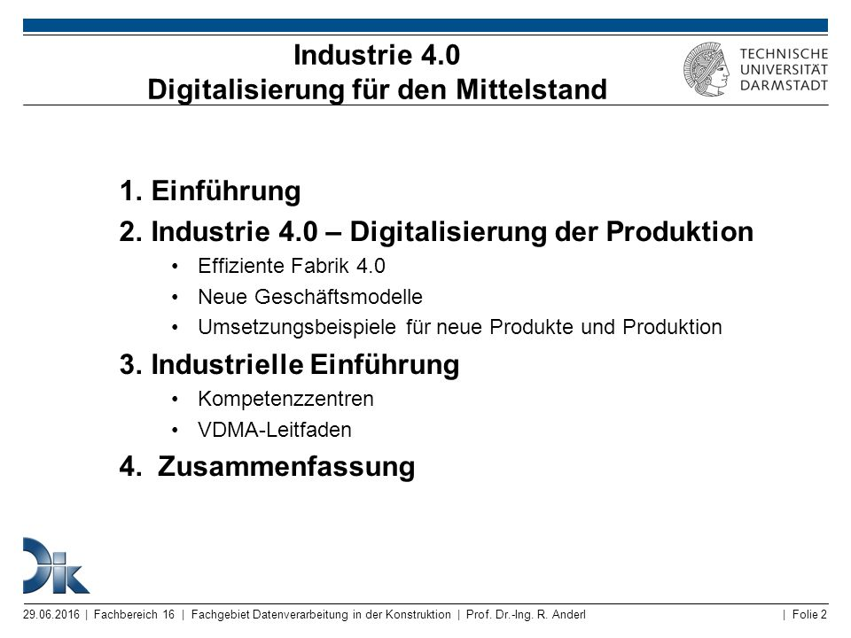 Industrie 4.0 Digitalisierung für den Mittelstand
