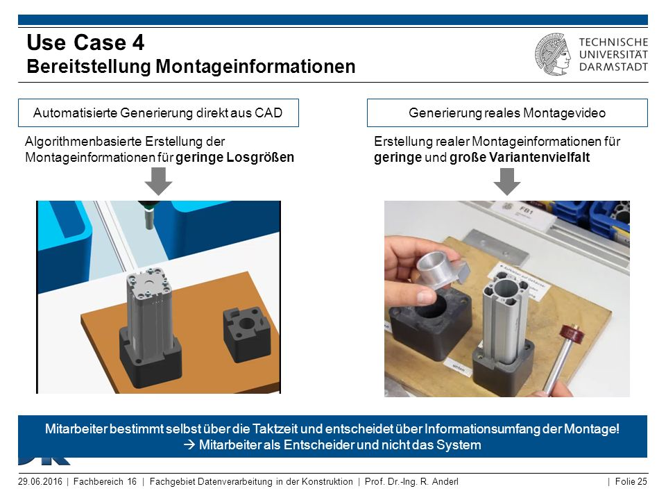 Use Case 4 Bereitstellung Montageinformationen