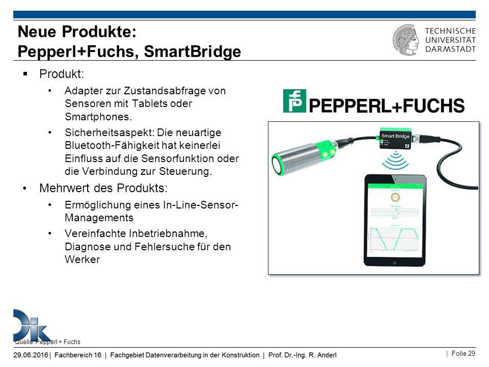 Neue Produkte: Pepperl+Fuchs, SmartBridge