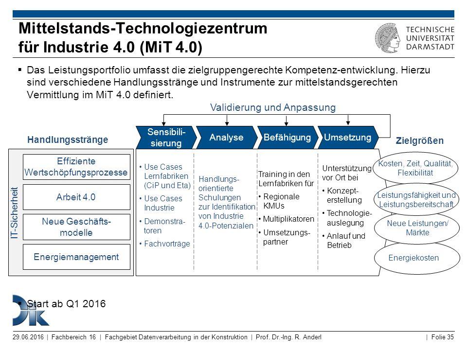 Mittelstands-Technologiezentrum für Industrie 4.0 (MiT 4.0)