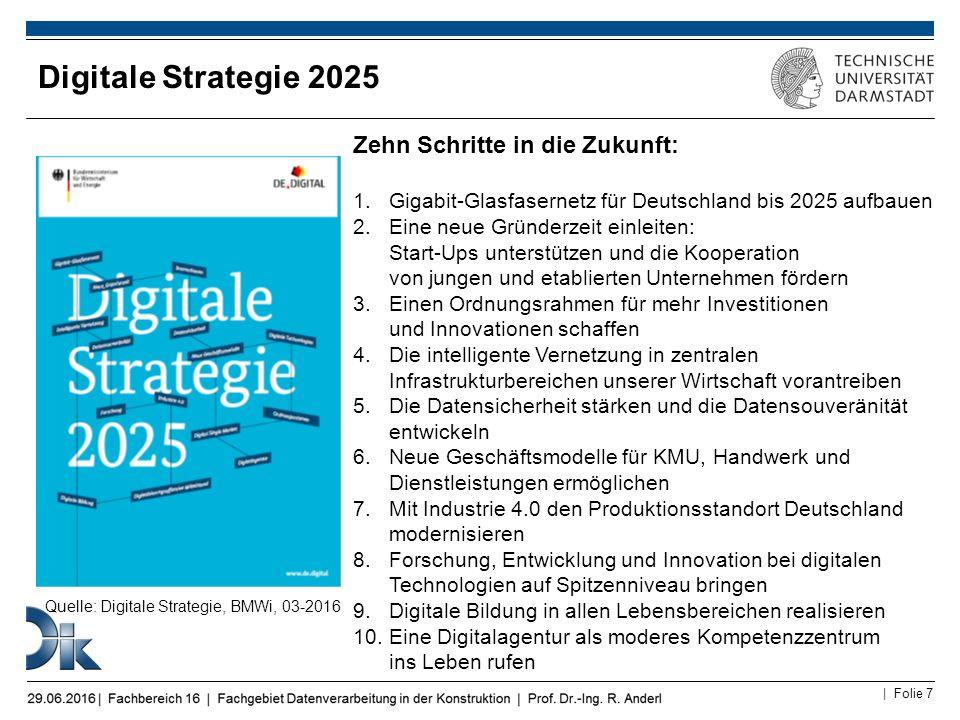 Digitale Strategie 2025 Zehn Schritte in die Zukunft: