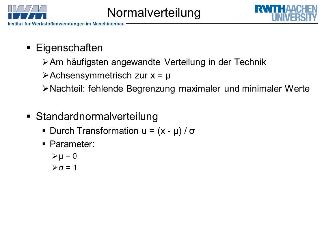 Normalverteilung Eigenschaften Standardnormalverteilung