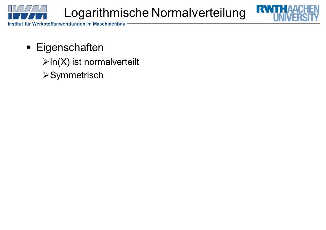 Logarithmische Normalverteilung