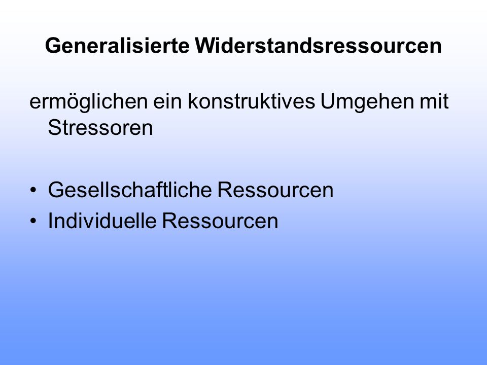 Generalisierte Widerstandsressourcen