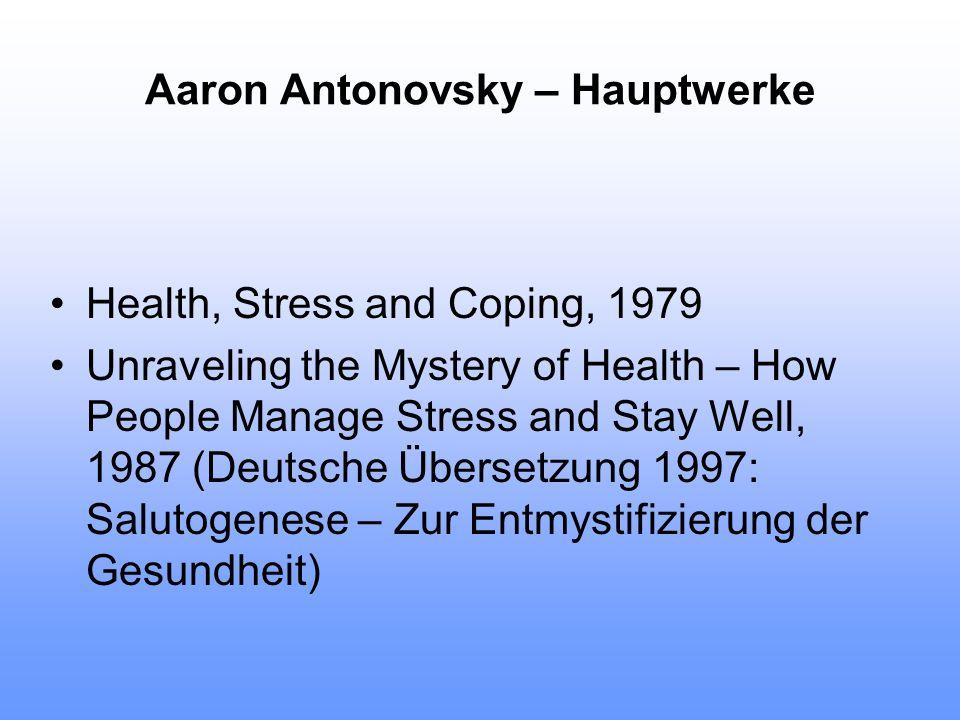 Aaron Antonovsky – Hauptwerke
