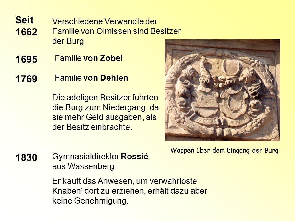 Seit 1662 1695 1769 1830 Verschiedene Verwandte der