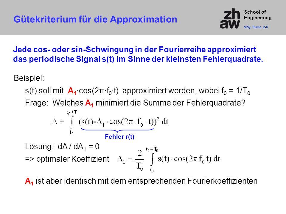 Gütekriterium für die Approximation