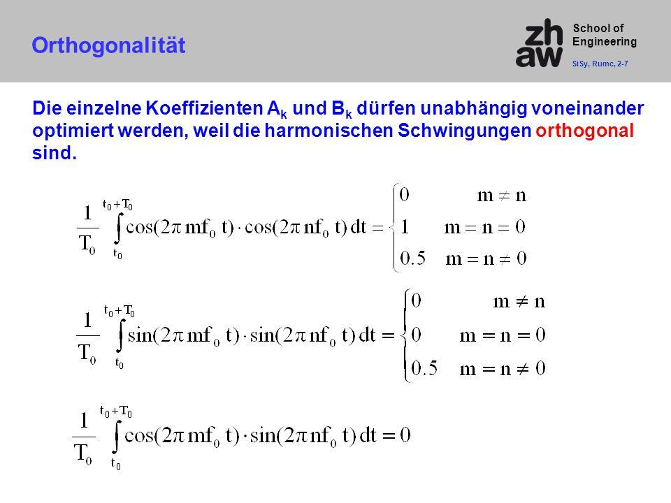 Orthogonalität SiSy, Rumc, 2-7.