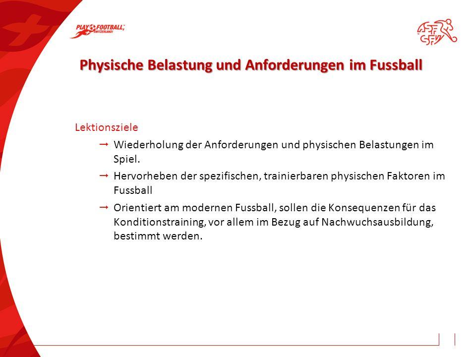Physische Belastung und Anforderungen im Fussball