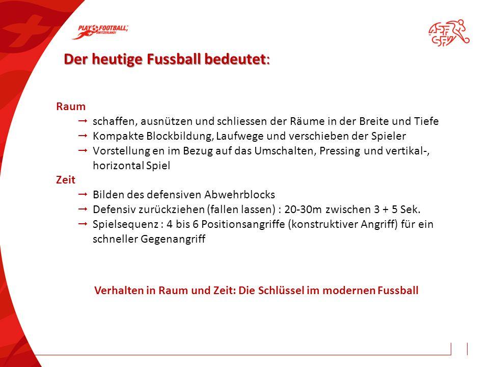 Der heutige Fussball bedeutet: