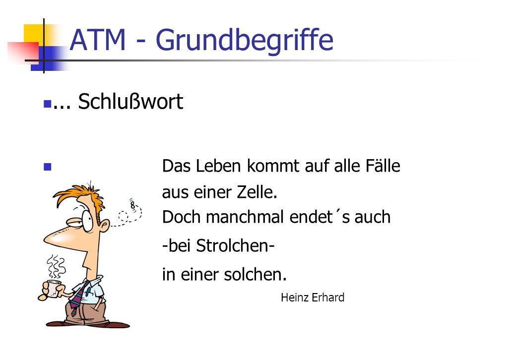 ATM - Grundbegriffe ... Schlußwort