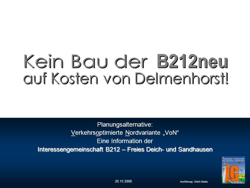 20.11.2008 Ausführung: Ulrich Gadau