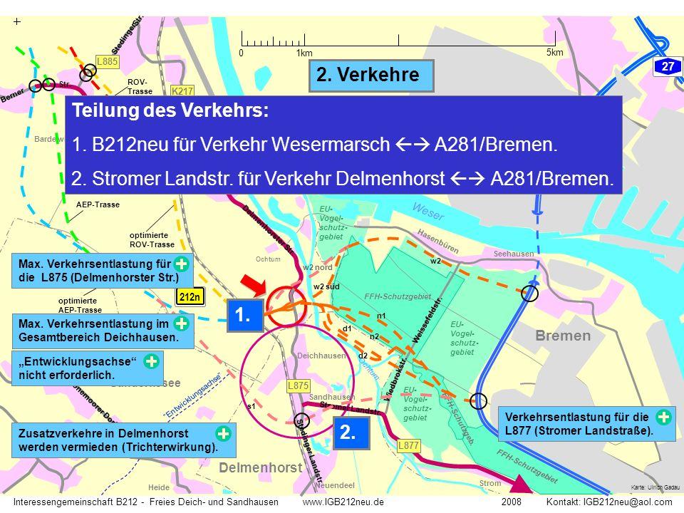 B212neu für Verkehr Wesermarsch  A281/Bremen.