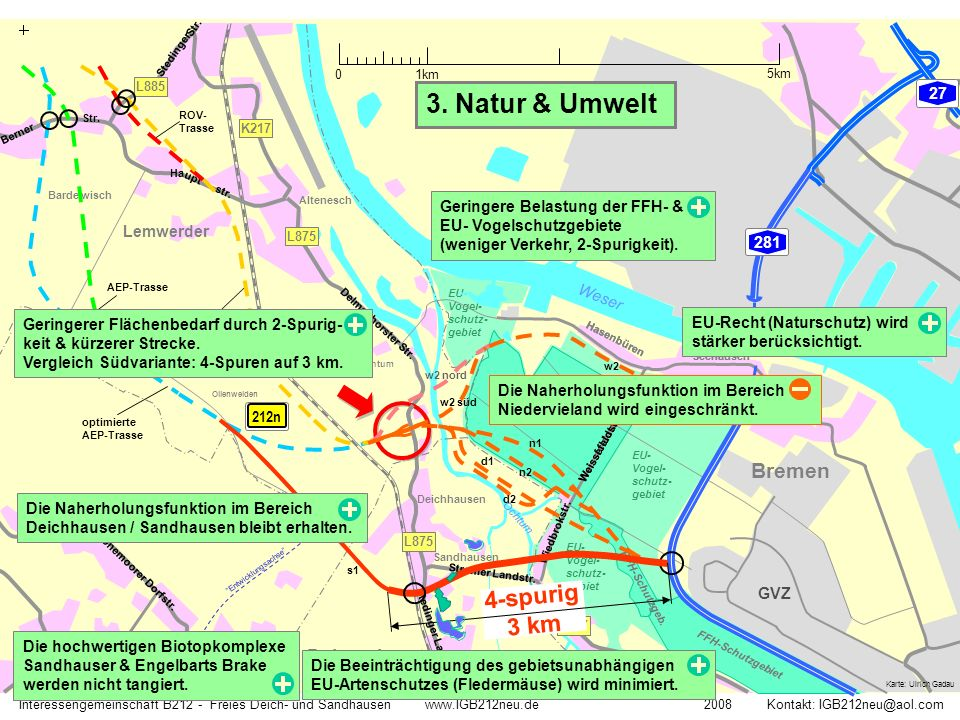 3. Natur & Umwelt 4-spurig 3 km Bremen Delmenhorst 27