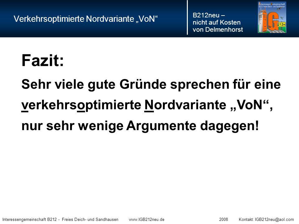 """Verkehrsoptimierte Nordvariante """"VoN"""