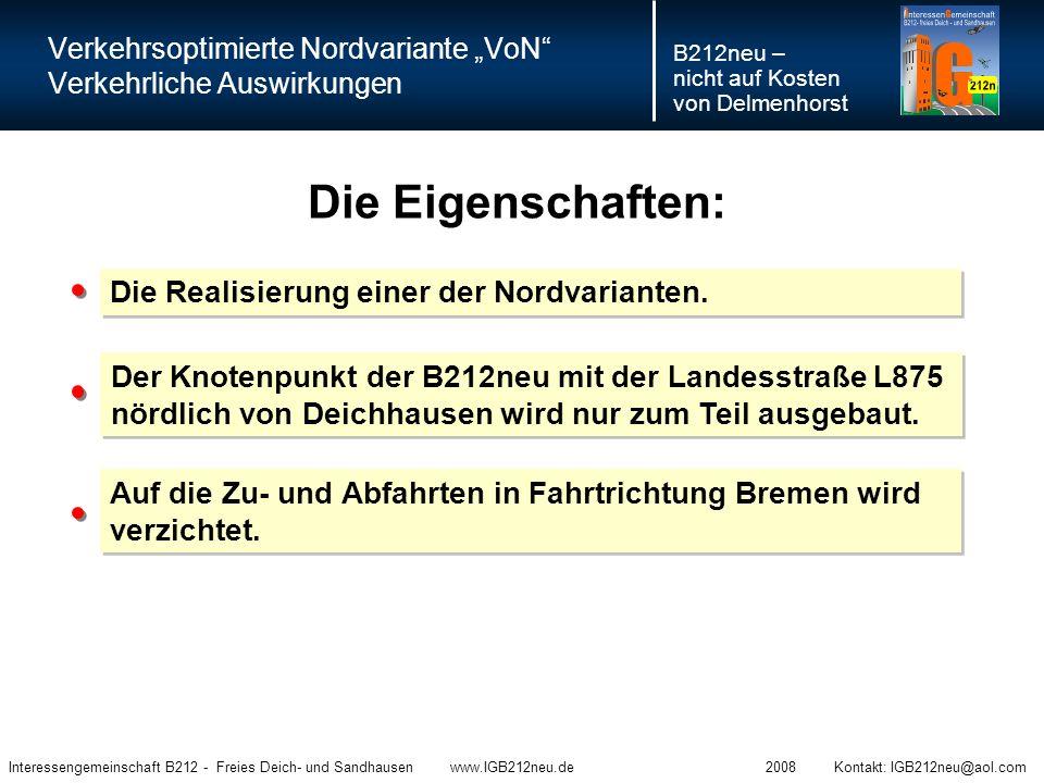 """Verkehrsoptimierte Nordvariante """"VoN Verkehrliche Auswirkungen"""