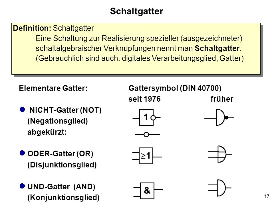 Schaltgatter 1 1 & Definition: Schaltgatter