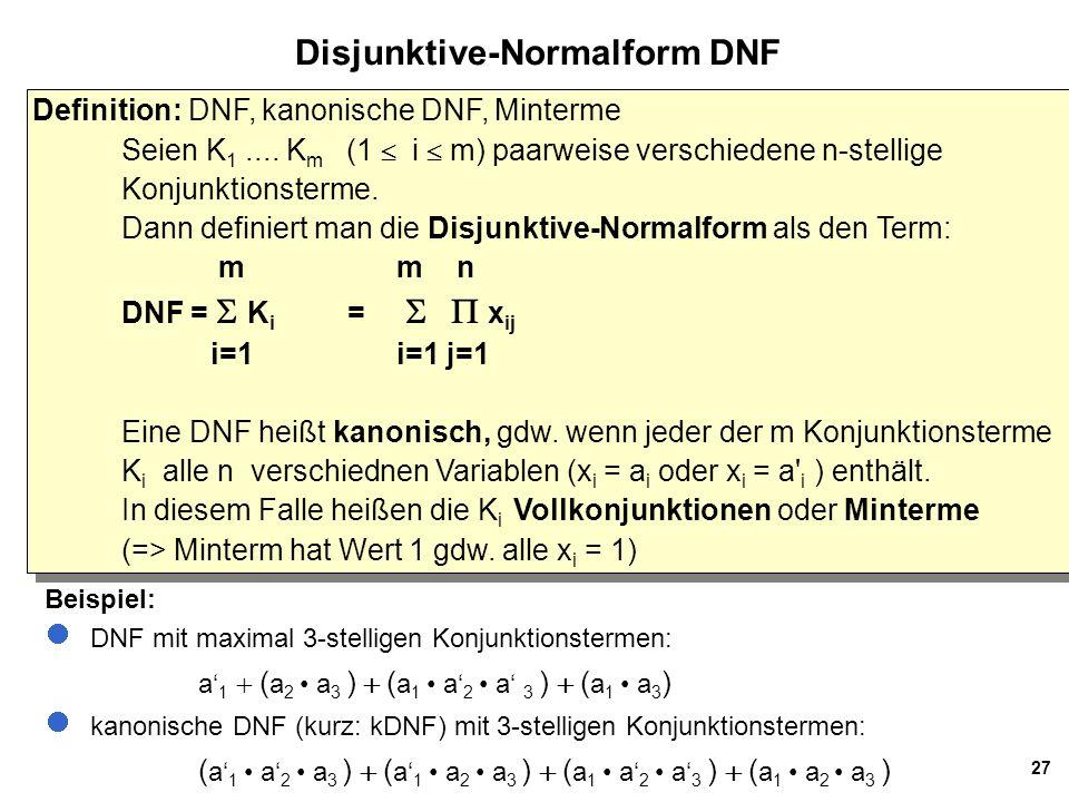 Disjunktive-Normalform DNF