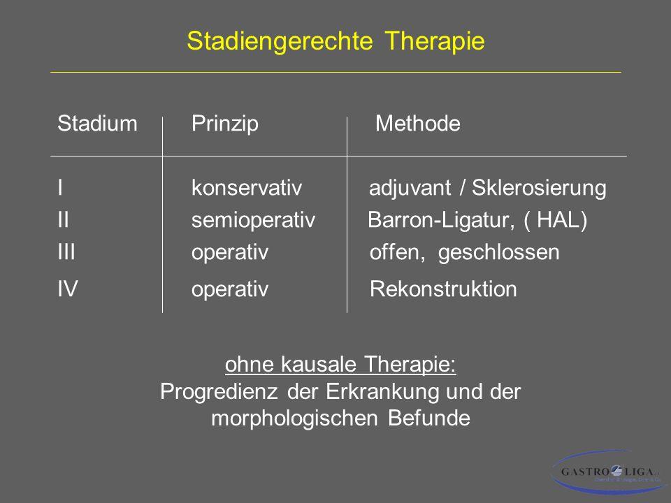 Stadiengerechte Therapie