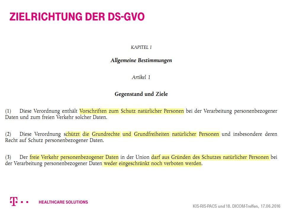 Zielrichtung der DS-GVO