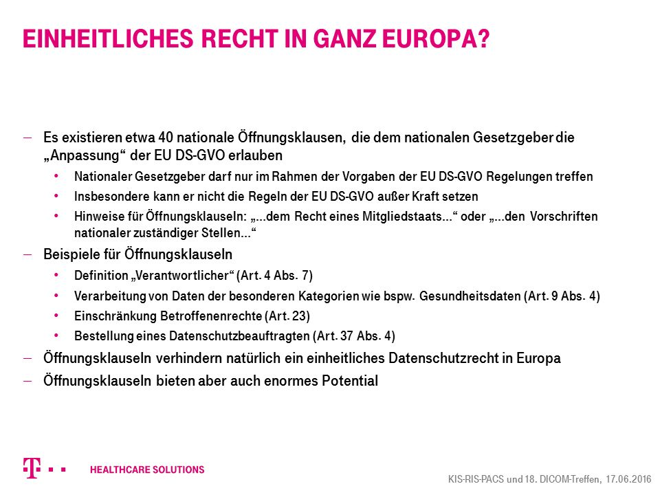 Einheitliches Recht in ganz Europa