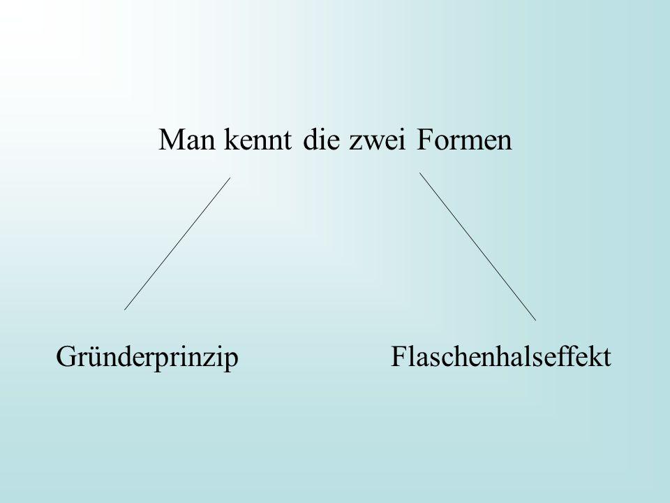 Man kennt die zwei Formen