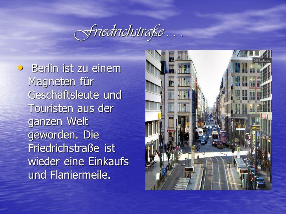 Friedrichstraße . . .