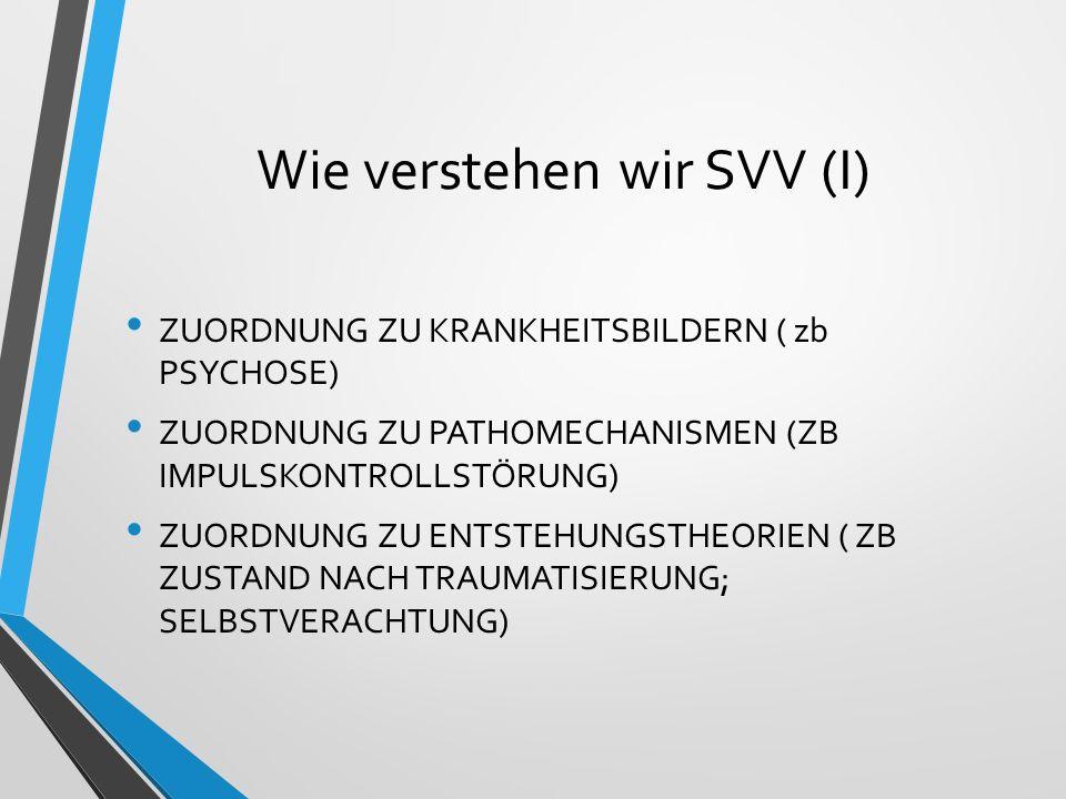 Wie verstehen wir SVV (I)