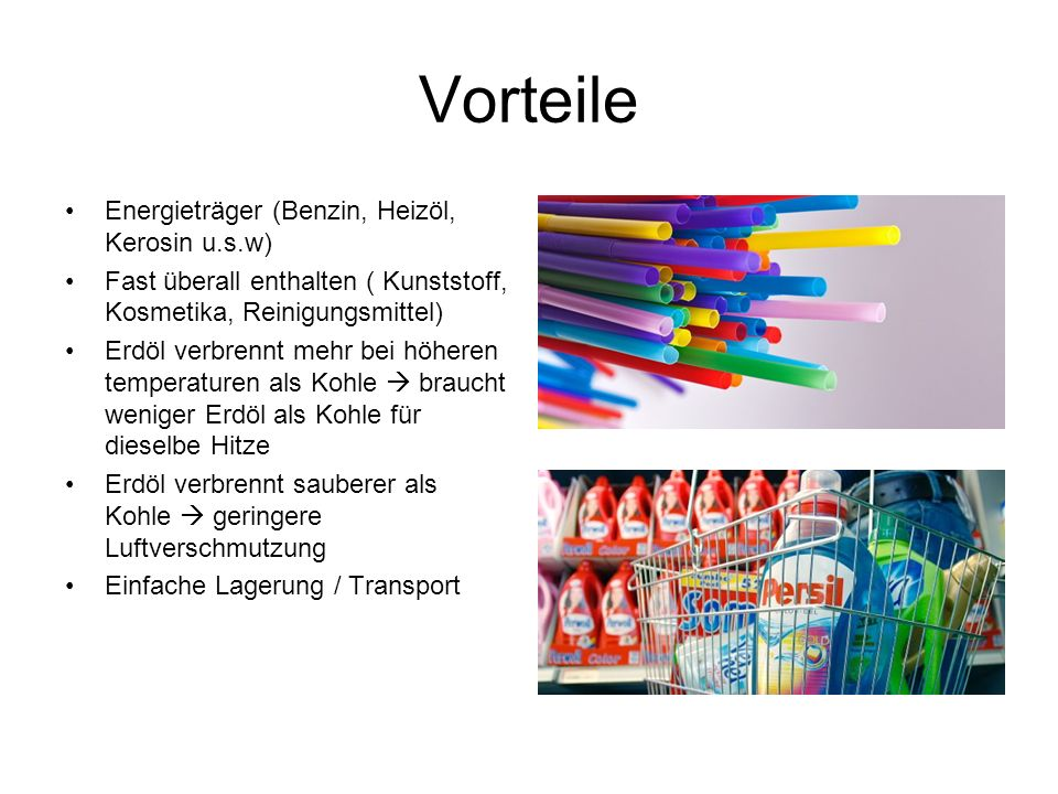 Vorteile Energieträger (Benzin, Heizöl, Kerosin u.s.w)