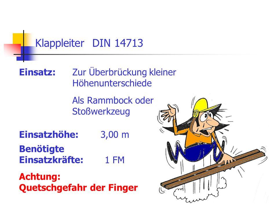 Klappleiter DIN 14713 Einsatz: Zur Überbrückung kleiner