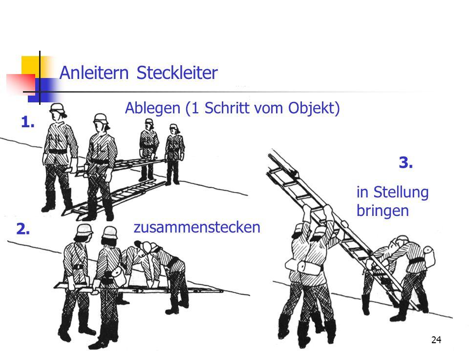 Anleitern Steckleiter