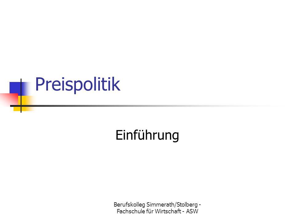 Berufskolleg Simmerath/Stolberg - Fachschule für Wirtschaft - ASW