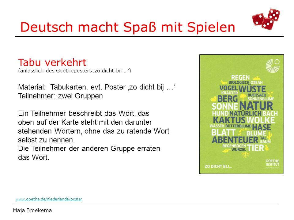 Deutsch macht Spaß mit Spielen