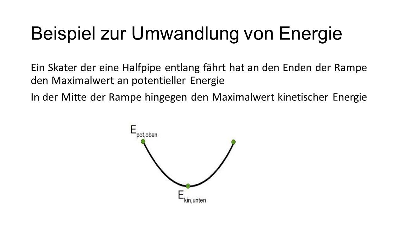 Beispiel zur Umwandlung von Energie