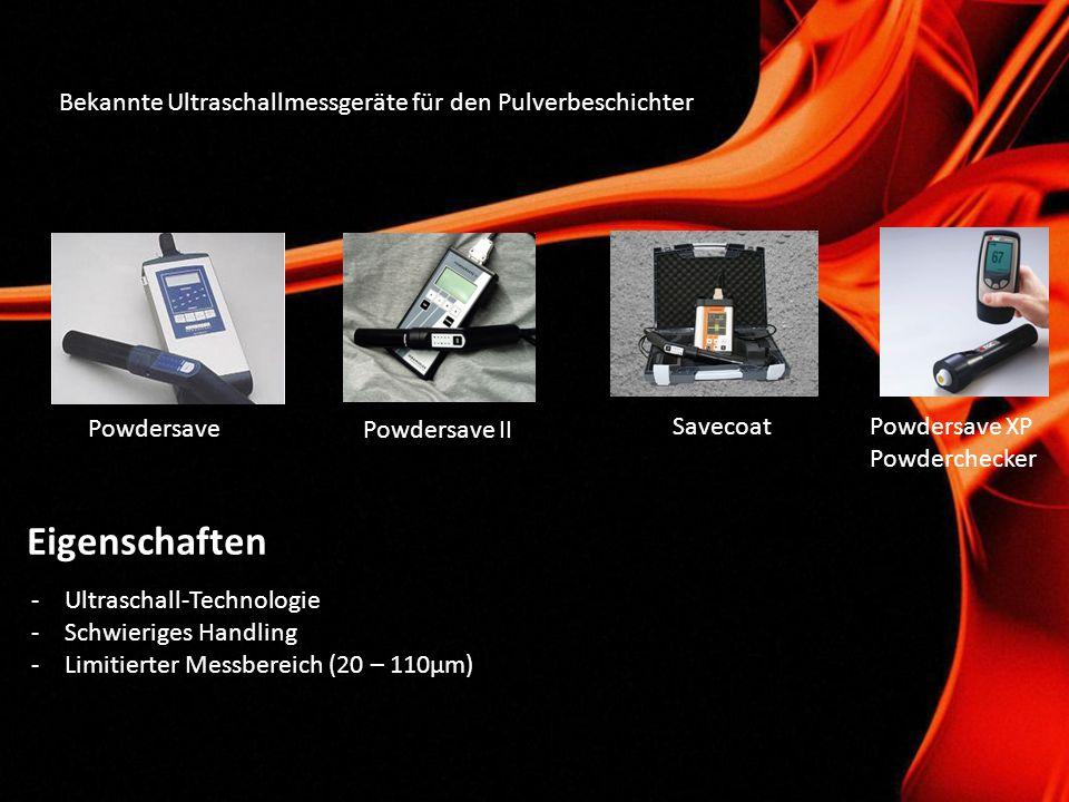 Eigenschaften Bekannte Ultraschallmessgeräte für den Pulverbeschichter