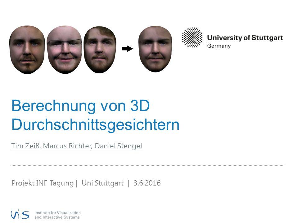 Berechnung von 3D Durchschnittsgesichtern