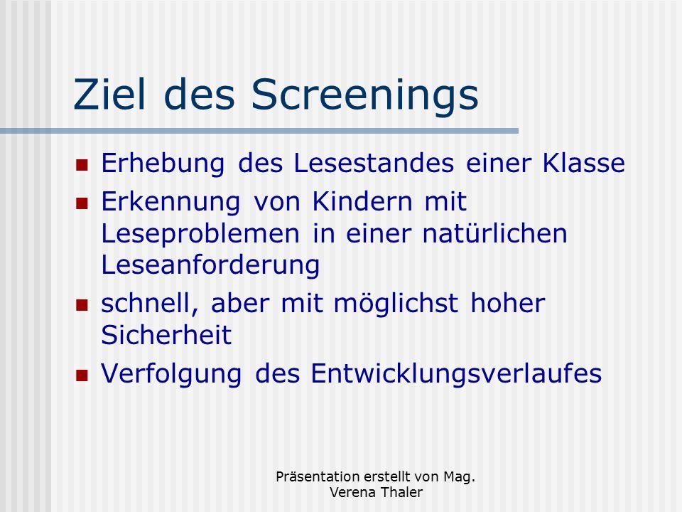 Präsentation erstellt von Mag. Verena Thaler