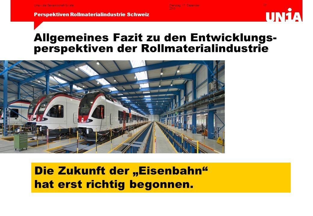 """Die Zukunft der """"Eisenbahn hat erst richtig begonnen."""