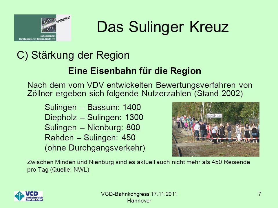 VCD-Bahnkongress 17.11.2011 Hannover