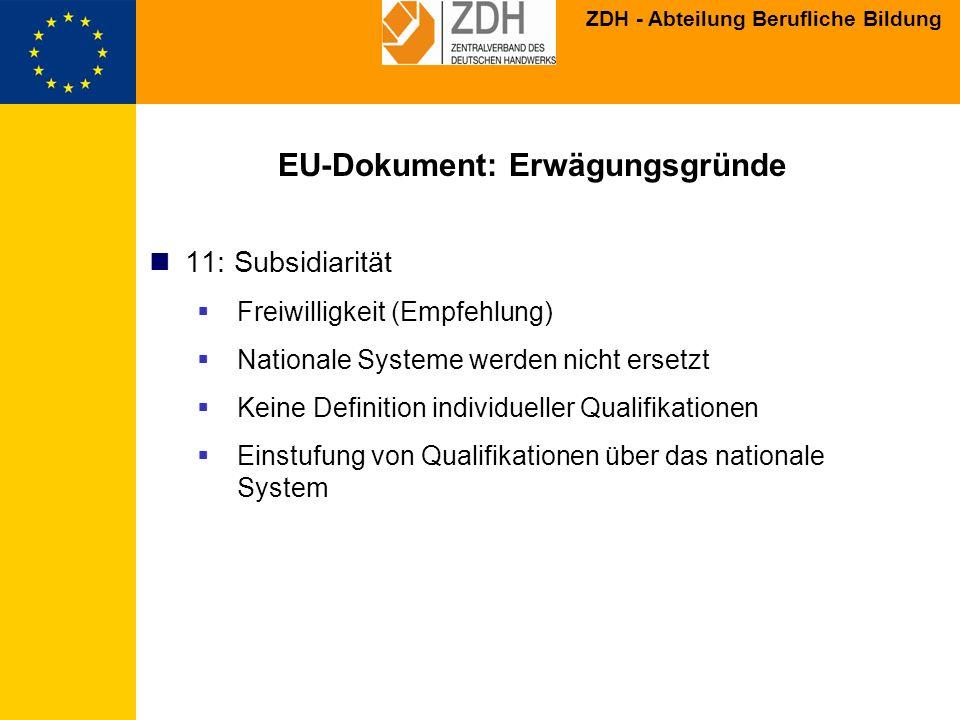 EU-Dokument: Erwägungsgründe