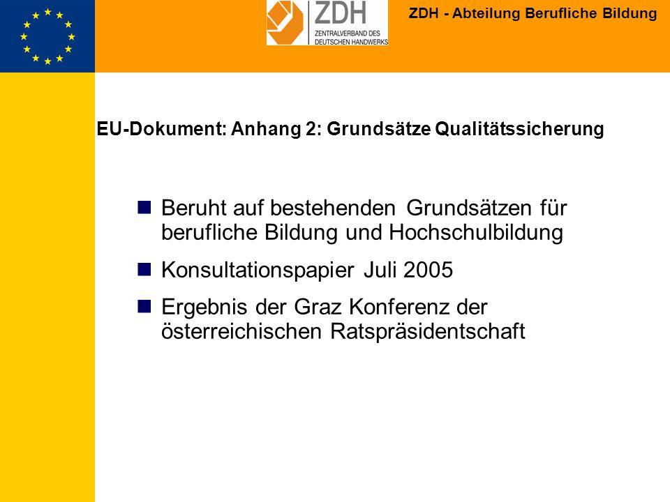 EU-Dokument: Anhang 2: Grundsätze Qualitätssicherung